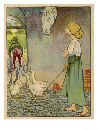 -planck-the-goose-girl-looks-up-at-a-horses-head-hanging-on-the-wall