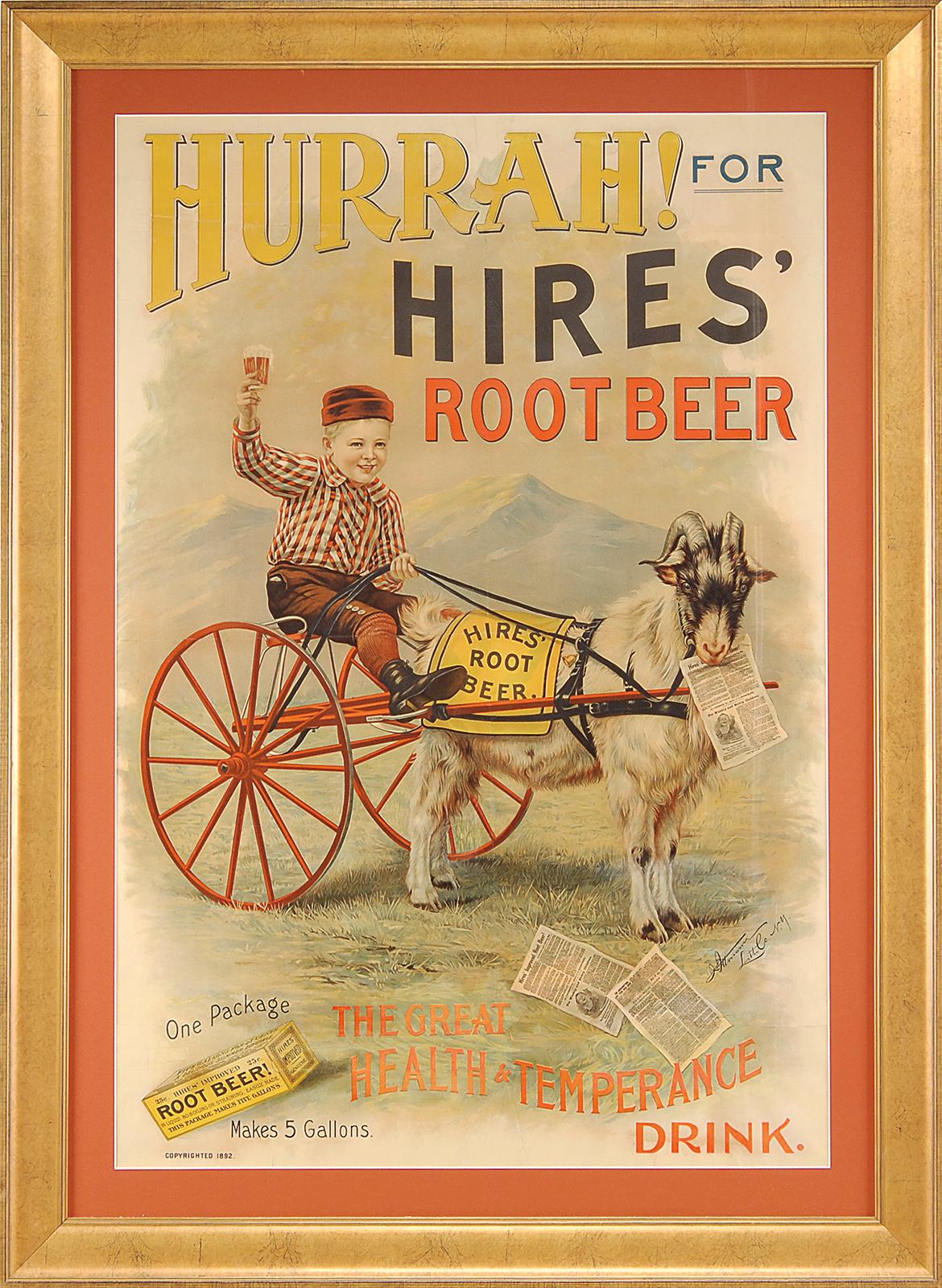 Antique Hires Root Beer Advertisement