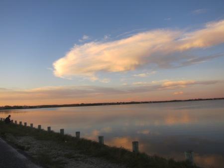 Mecox Bay at sunset