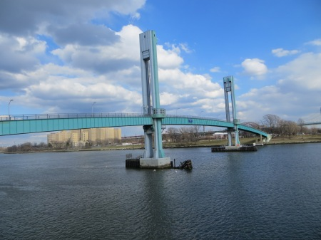 Pedestrian Bridge to Randall's Island at 103rd Street and the East River.