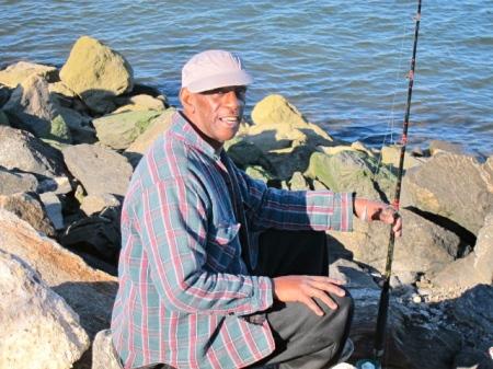 Fishing for Blackfish on Randall's Island.