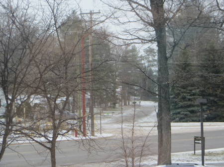 Snow in Traverse City, Michigan