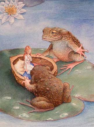 Thumbelina-with-2-frogs