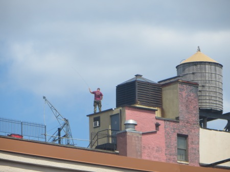 Roof Human, Riverside Drive.