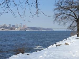 Looking north toward the George Washington Bridge.